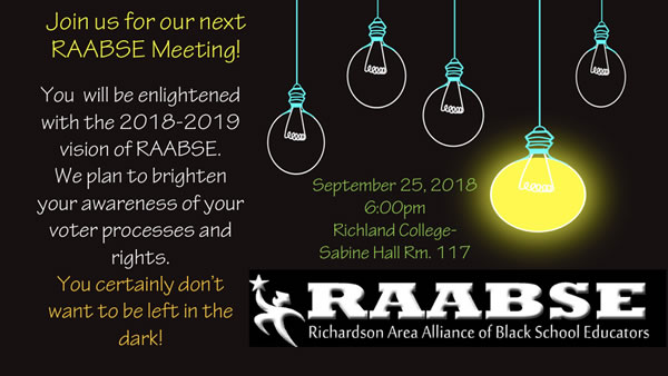Join us at our RAABSE Meeting on Sept 25th