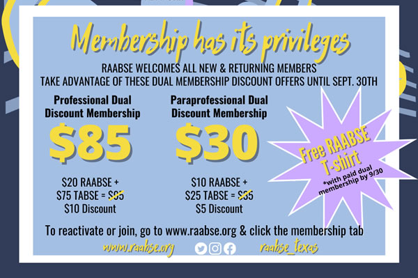 RAABSE Membership Drive 2021-2022
